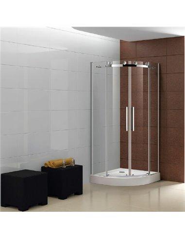 Cezares dušas stūris STYLUS-O-M-R-2-90-C-Cr - 1