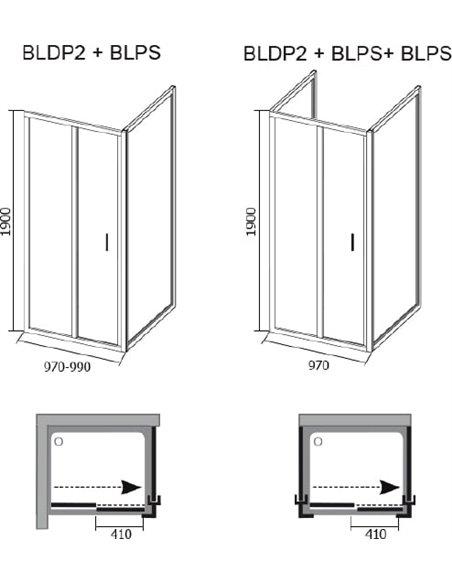 Ravak dušas stūris BLDP2-100+BLPS - 5