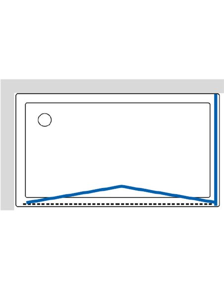 GuteWetter dušas stūris Practic Rectan GK-404 kreisā - 7