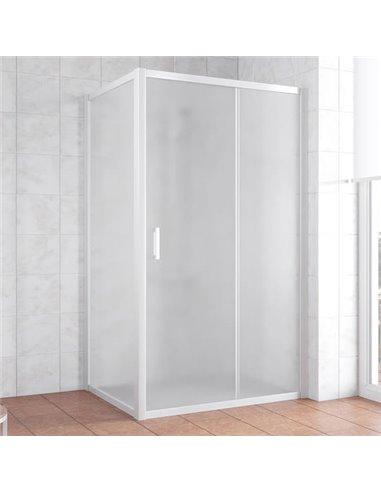 Vegas Glass dušas stūris ZP+ZPV 100*90 01 10 - 1