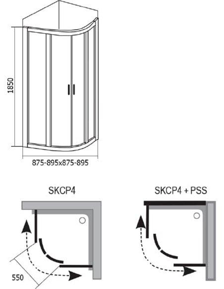 Ravak dušas stūris SKCP4-90 - 5