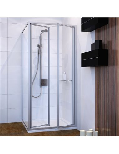 GuteWetter dušas stūris Practic Square GK-402 labā - 1