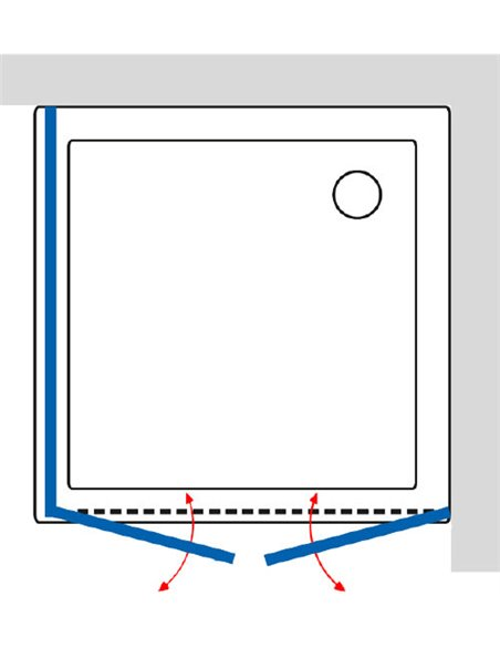 GuteWetter dušas stūris Practic Square GK-402 labā - 4