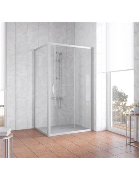 Vegas Glass dušas stūris ZP+ZPV 100*90 07 01 - 2