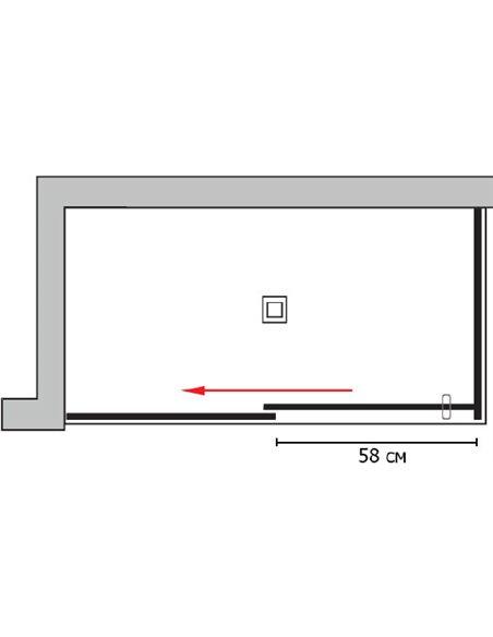 GuteWetter dušas stūris Slide Rectan GK-863A kreisā - 7