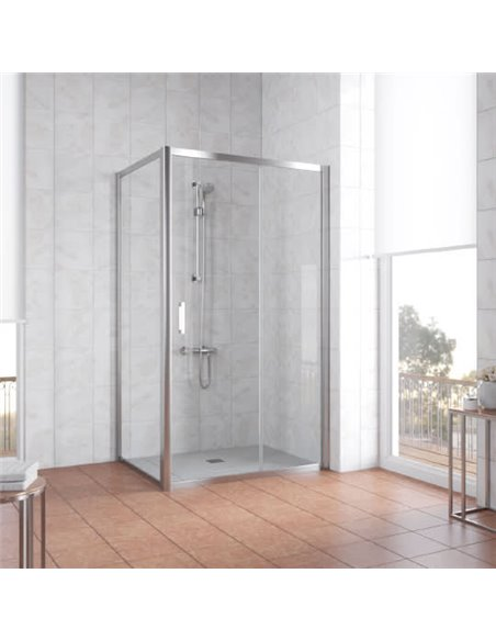 Vegas Glass dušas stūris ZP+ZPV 110*80 08 01 - 2