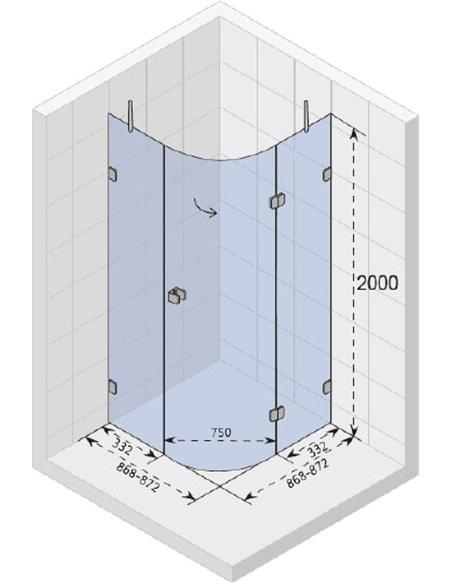 Riho dušas stūris Scandic Soft Q308 - 3