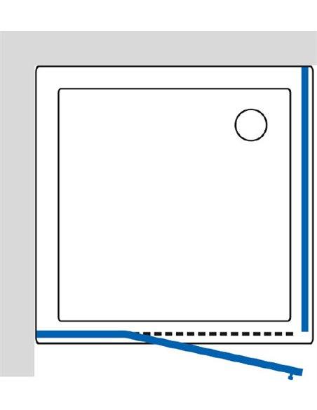 GuteWetter dušas stūris Lux Square GK-003 левый - 7