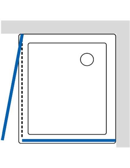 GuteWetter dušas stūris Practic Rectan GK-401 kreisā - 6