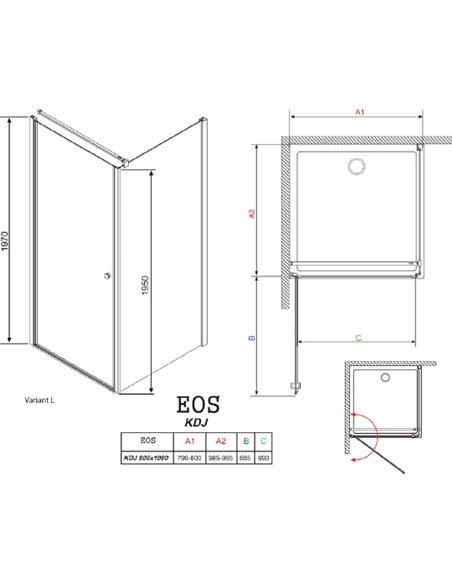 Radaway dušas stūris EOS KDJ - 5