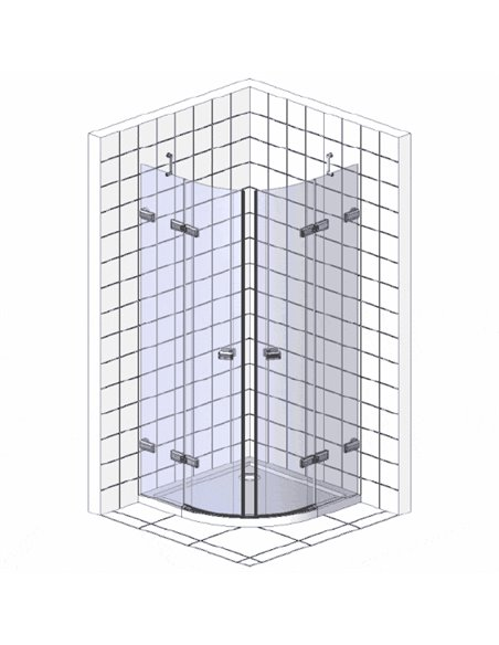Ravak dušas stūris CSKK4-80 - 3