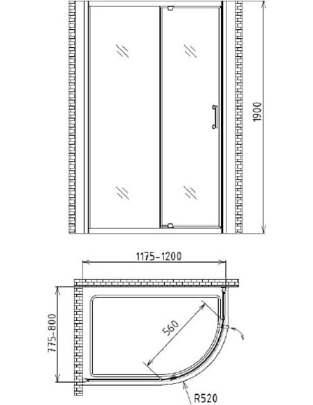 Gemy dušas stūris Sunny Bay S28182 - 4