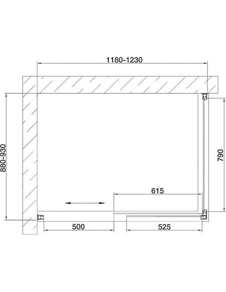 Vegas Glass dušas stūris ZP+ZPV 120*90 09 01 - 7