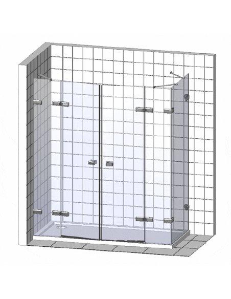 GuteWetter dušas stūris Practic Square GK-402 kreisā - 4