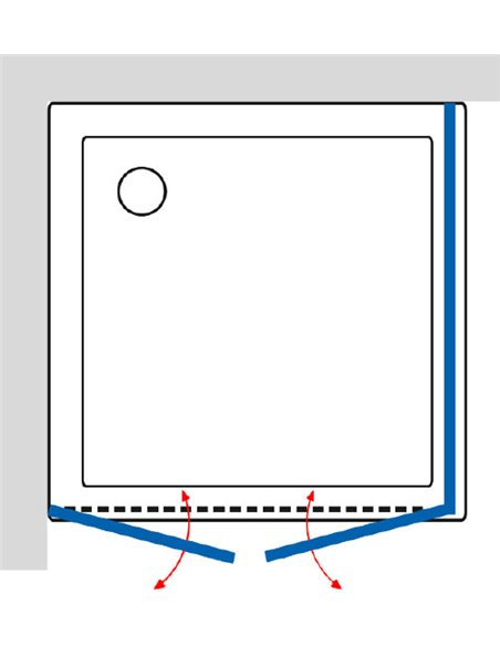GuteWetter dušas stūris Practic Square GK-402 kreisā - 5