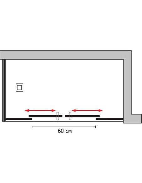 GuteWetter dušas stūris Slide Rectan GK-865 labā - 5