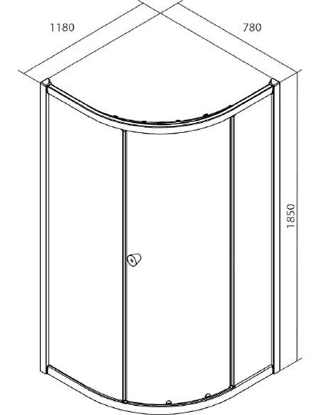 Iddis dušas stūris Mirro M70R128i23 - 2