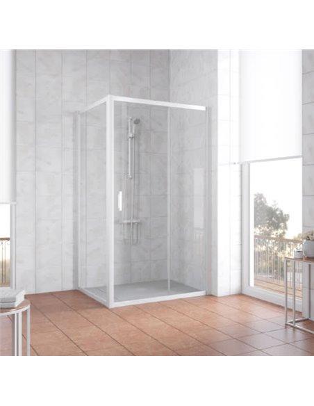 Vegas Glass dušas stūris ZP+ZPV 100*90 01 01 - 2