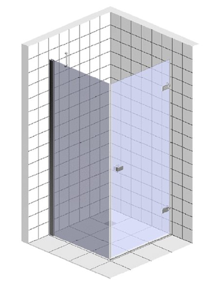 Gemy dušas stūris New Rockcoco S03161C - 4