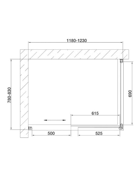 Vegas Glass dušas stūris ZP+ZPV 120*80 05 01 - 7