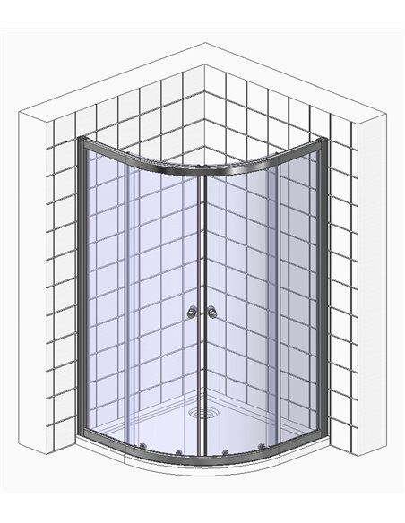 GuteWetter dušas stūris Shape Round GK-864A - 6