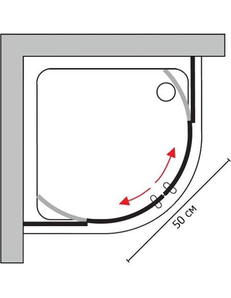 GuteWetter dušas stūris Shape Round GK-864A - 7