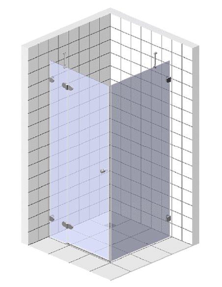 GuteWetter dušas stūris Lux Square GK-003 левый - 6