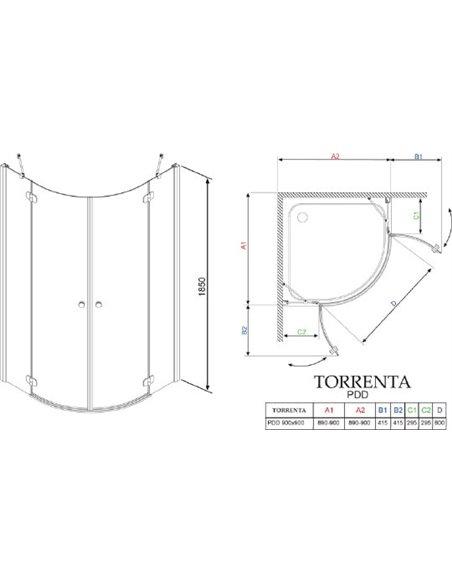 Radaway dušas stūris Torrenta PDD - 6