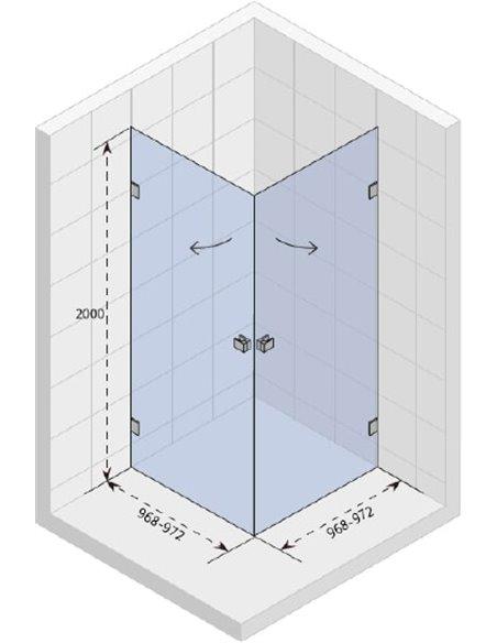 Riho dušas stūris Scandic Mistral M209 - 3