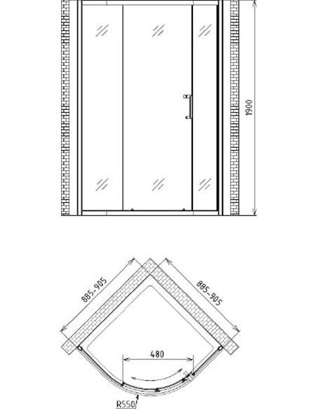 Gemy dušas stūris Victoria S30071A - 4