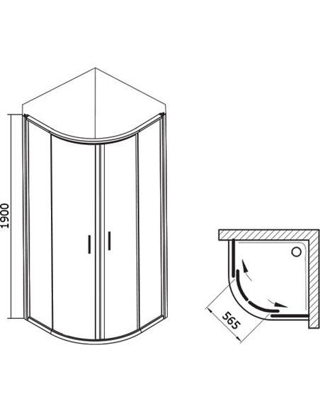 Ravak dušas stūris BLCP4-90 - 5