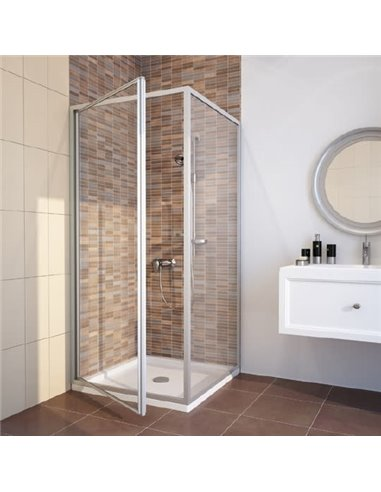 GuteWetter dušas stūris Practic Square GK-401 kreisā - 1