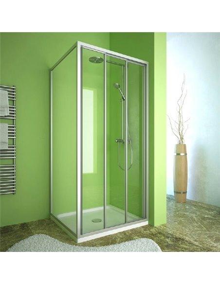 GuteWetter dušas stūris Practic Square GK-403 labā - 1