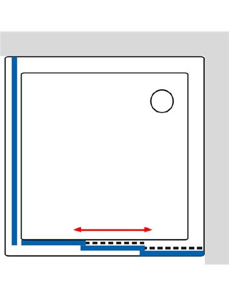 GuteWetter dušas stūris Practic Square GK-403 labā - 6