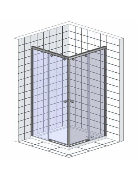 GuteWetter dušas stūris Slide Square GK-864 - 8