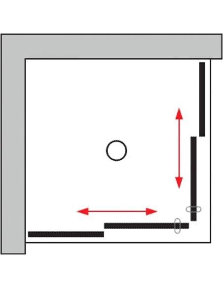 GuteWetter dušas stūris Slide Square GK-864 - 9