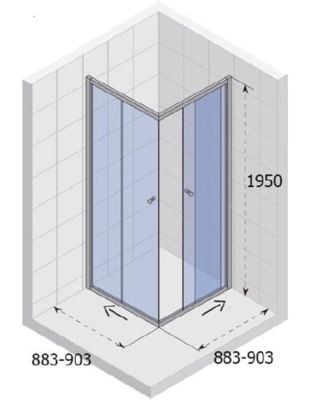 Riho dušas stūris Lucena GK34200 - 4