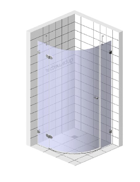 GuteWetter dušas stūris Lux Meliori GK-001 левый - 5