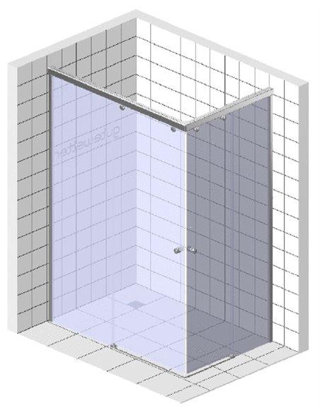 GuteWetter dušas stūris Slide Rectan GK-864 kreisā - 9