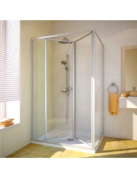 GuteWetter dušas stūris Practic Rectan GK-404 kreisā - 1