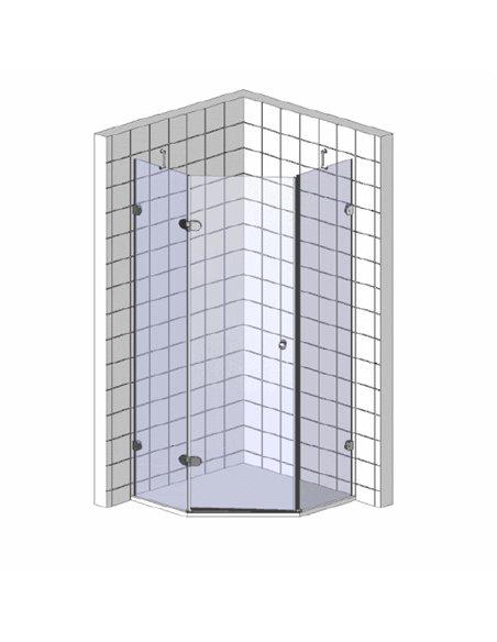 Cezares dušas stūris BERGAMO-W-P-1-90-C-Cr-L-IV - 3