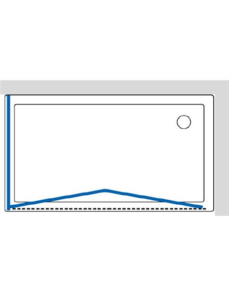 GuteWetter dušas stūris Practic Rectan GK-404 labā - 7