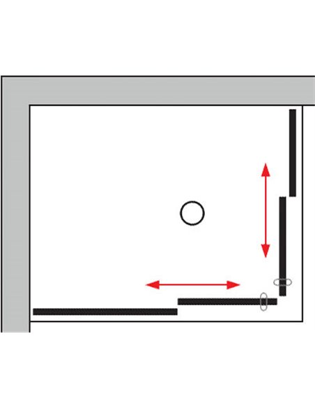 GuteWetter dušas stūris Slide Rectan GK-864 kreisā - 10