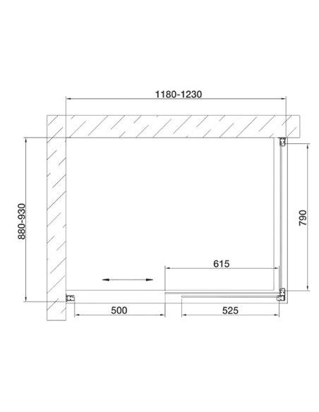 Vegas Glass dušas stūris ZP+ZPV 120*90 05 05 - 7