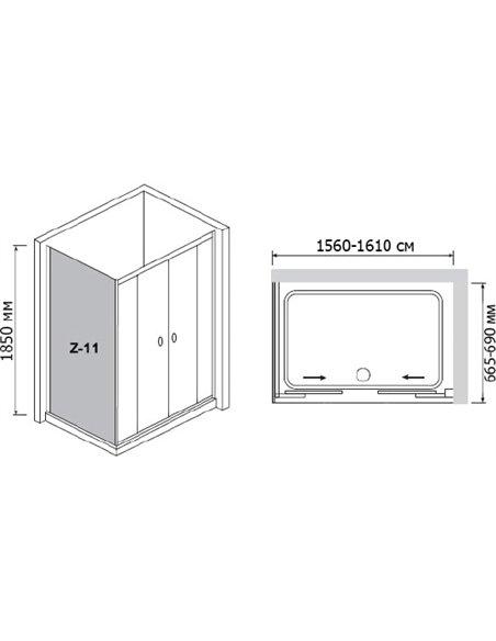 RGW dušas stūris Classic CL-43 - 4