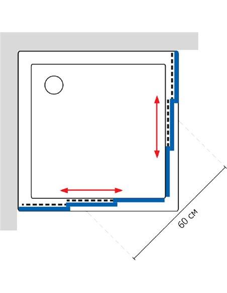 GuteWetter dušas stūris Practic Square GK-433 - 6