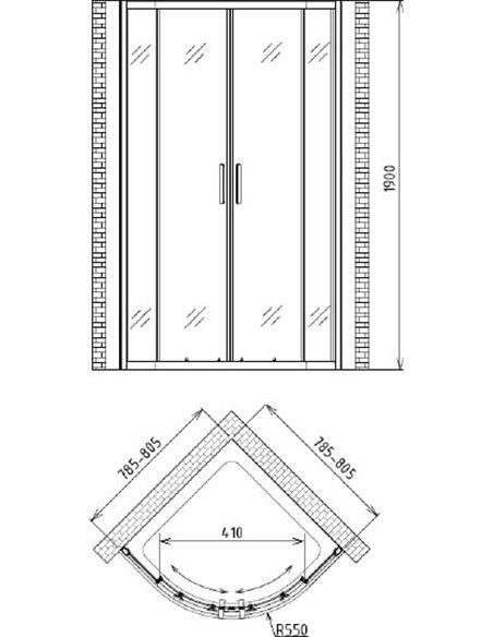Gemy dušas stūris Victoria S30062 - 4