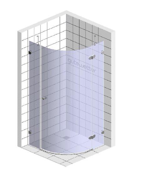 GuteWetter dušas stūris Lux Meliori GK-101 правый - 6