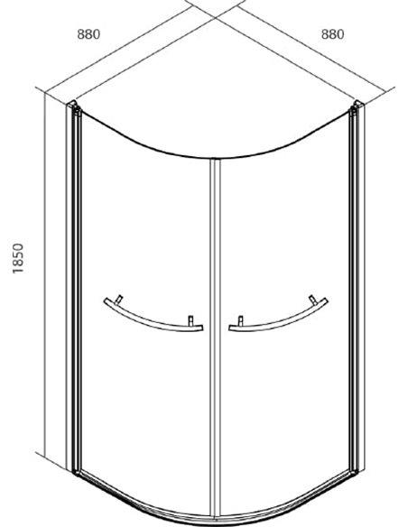Iddis dušas stūris Elansa E20R099i23 - 3