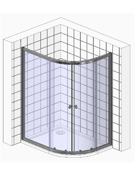 Cezares dušas stūris Eco RH 2 120/90 P Cr - 8